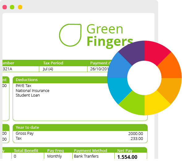 Customisable Payslip Example on Mobile