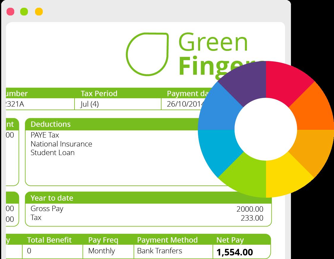 Customisable Payslip Example on Desktop