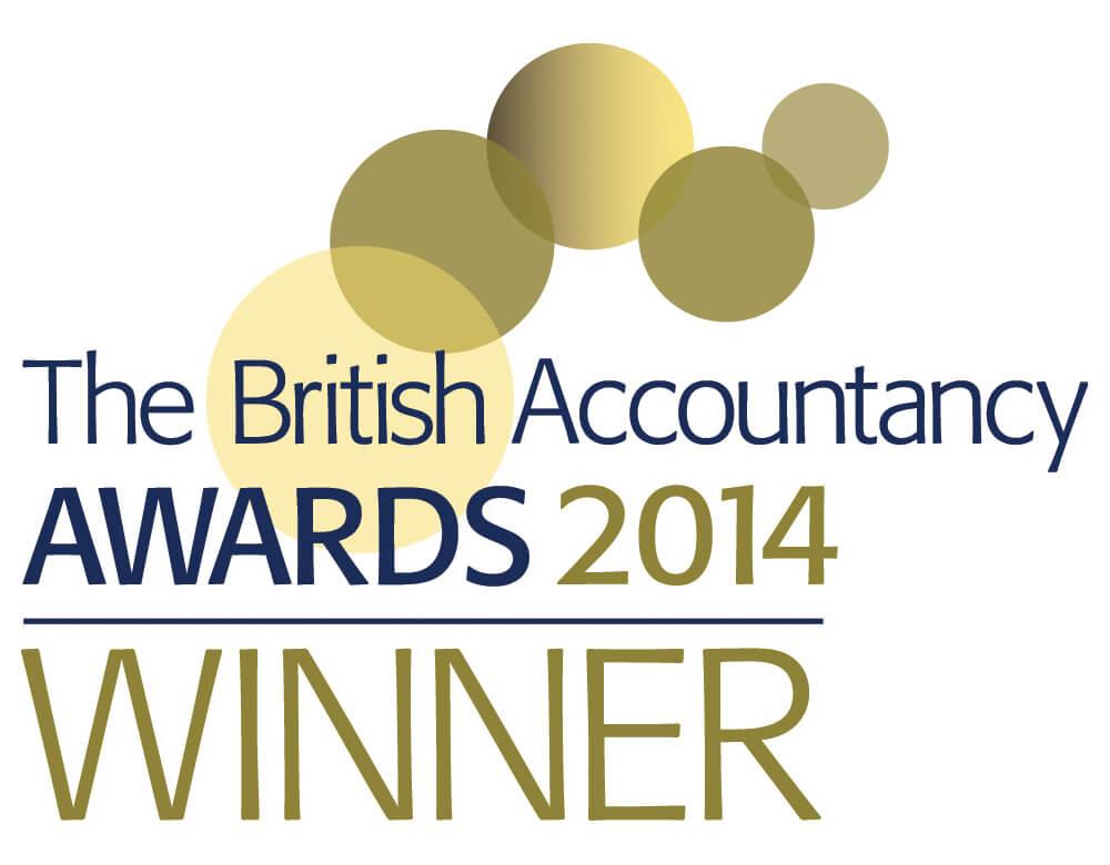 British Accountancy Awards 2014 Winner Logo