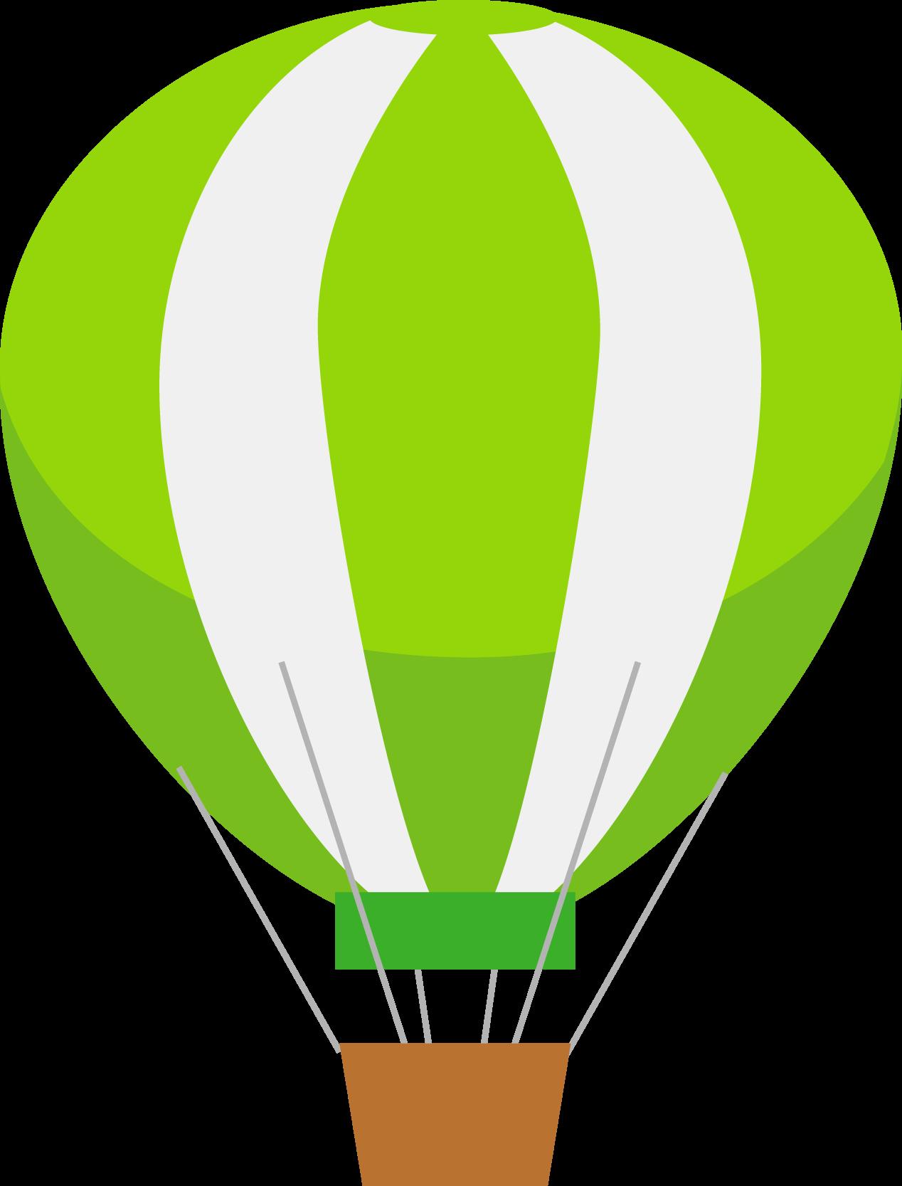 Green Hot Air Baloon Image