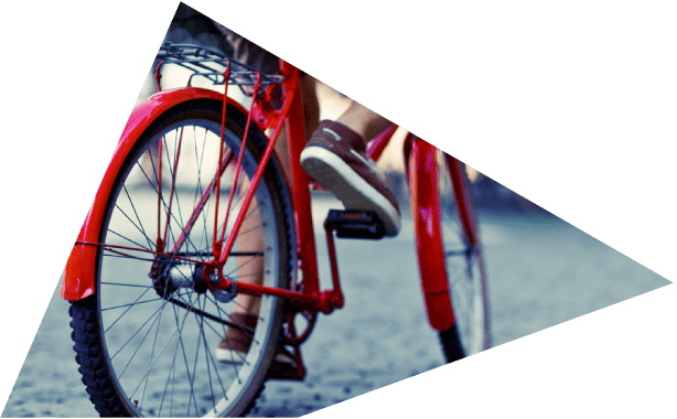 Man Cycling on Red Bicycle