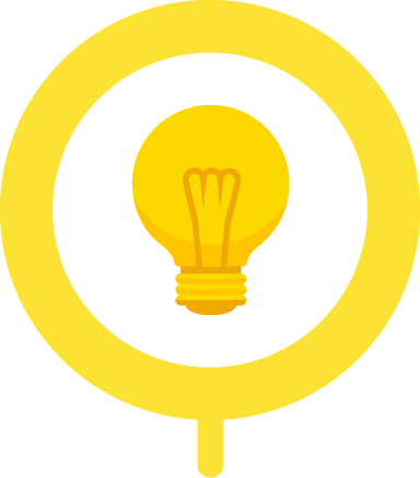 Yellow Lightbulb Signifies Requesting New Feature