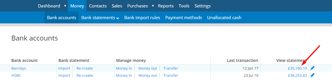Support guides » Bank Accounts » How to delete a payment from a bank