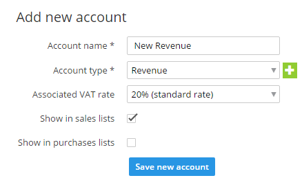 save account code