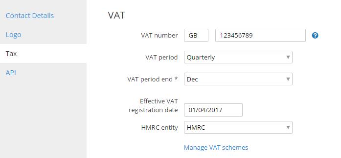 Tax reg date