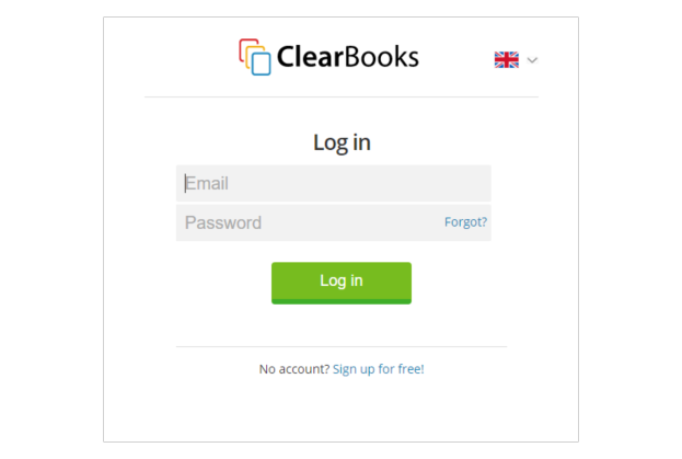 Clear Books login