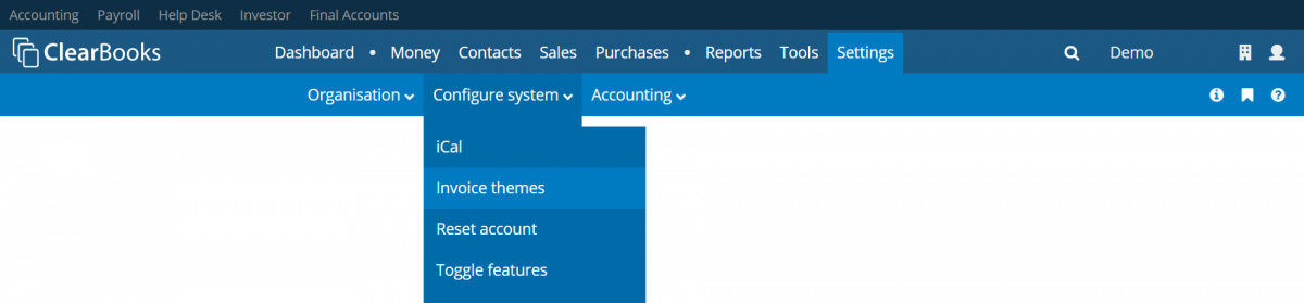 Invoice themes