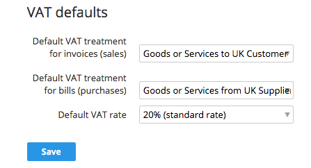 VAT defaults