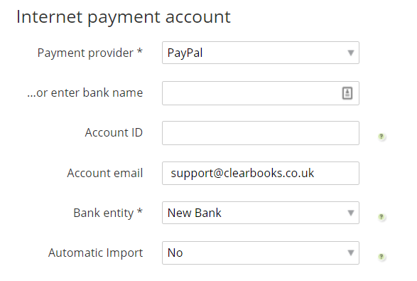 paypal account details
