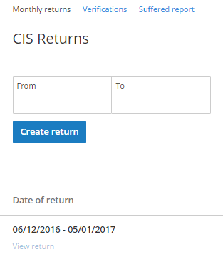 view cis return