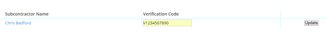manual verification number